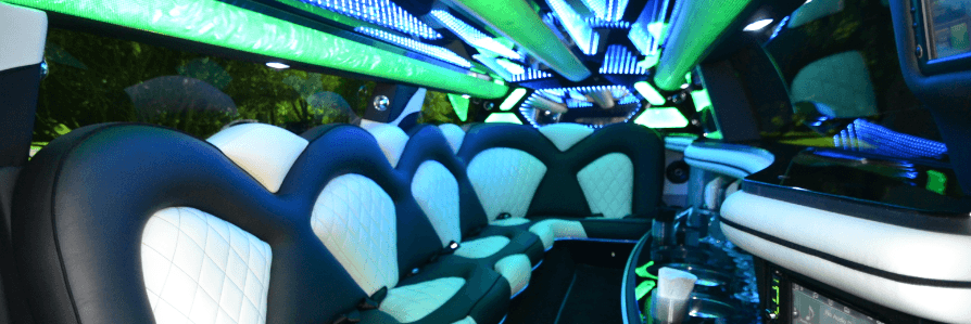 Green Party Bus Interior A1A Limo